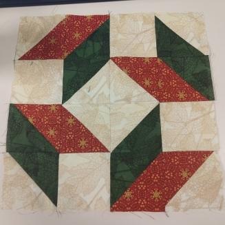Let's Make Cake BOM - Block 5 - Bachelor's Puzzle - Autumn Reverie Colorway