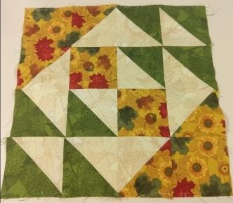 Let's Make Cake BOM - Block 3 - Helen's Choice - Autumn Reverie Colorway